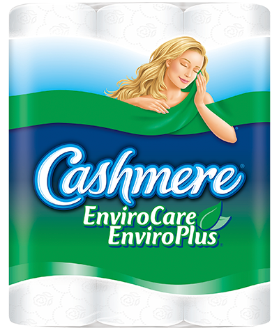 A package of Environmental branded Cashmere bathroom tissue